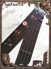 Infanta di Marca di Spessore Collant Steampunk Gear Stampato Lolita Calzamaglie