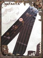 Infanta marca grossa meia calça steampunk engrenagem impresso lolita collants