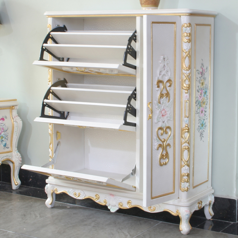 Aliexpress.com : Buy Luxury Furniture Gold Antique Hand Carving Leaf  Gilding Shoe Cabinet From Reliable Shoe Cabinet Suppliers On Foshan City  Nanhai Pei Li ... Part 6