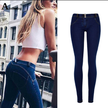 Aimsnug Push Up Jeans Women Denim Pants Mujer Pencil Pants Skinny Jean Femme Fashion Slim Fit Casual Sexy Elastic Trousers jeans american apparel 2017 pants jeans femme women fashion low waist autumn sexy hip push up jean pantalon femme trousers