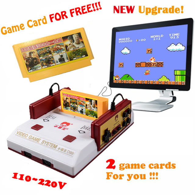 New Upgrade Subor D99 Game Console Nostalgic original Family TV video games consoles player with free 500 games card