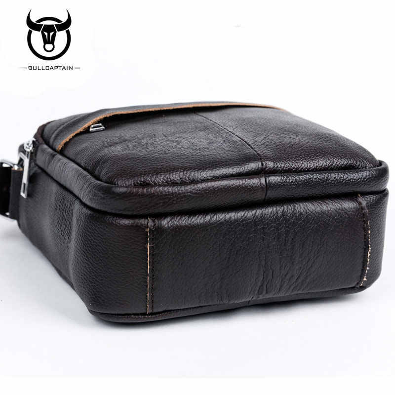 f3976b04778b ... BULLCAPTAIN 2018 Fashion Genuine Leather Shoulder bags men business  Crossbody Bags mini Brand casual Male messenger