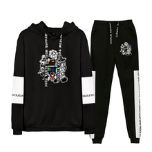 2019 Autumn/Winter Undertale Hip Hop Undertale Hoodies Sweatshirts And Sweatpants Men Two Piece Set Hooded Suit Velvet