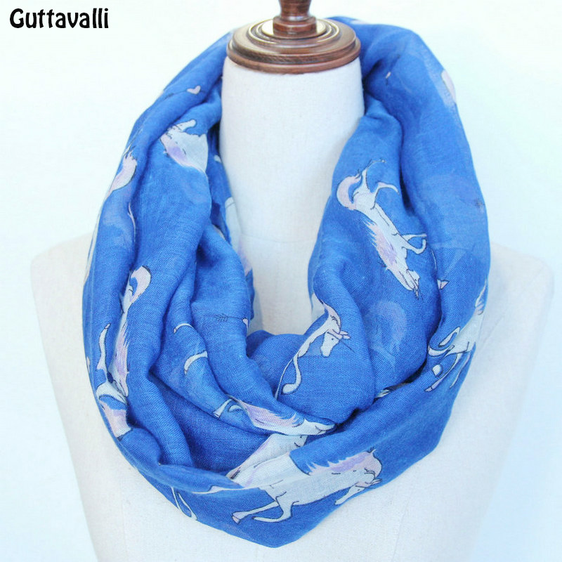 Women Horses Animal Printing Soft Viscose Winter Warm Spring Summer Wrap Scarf