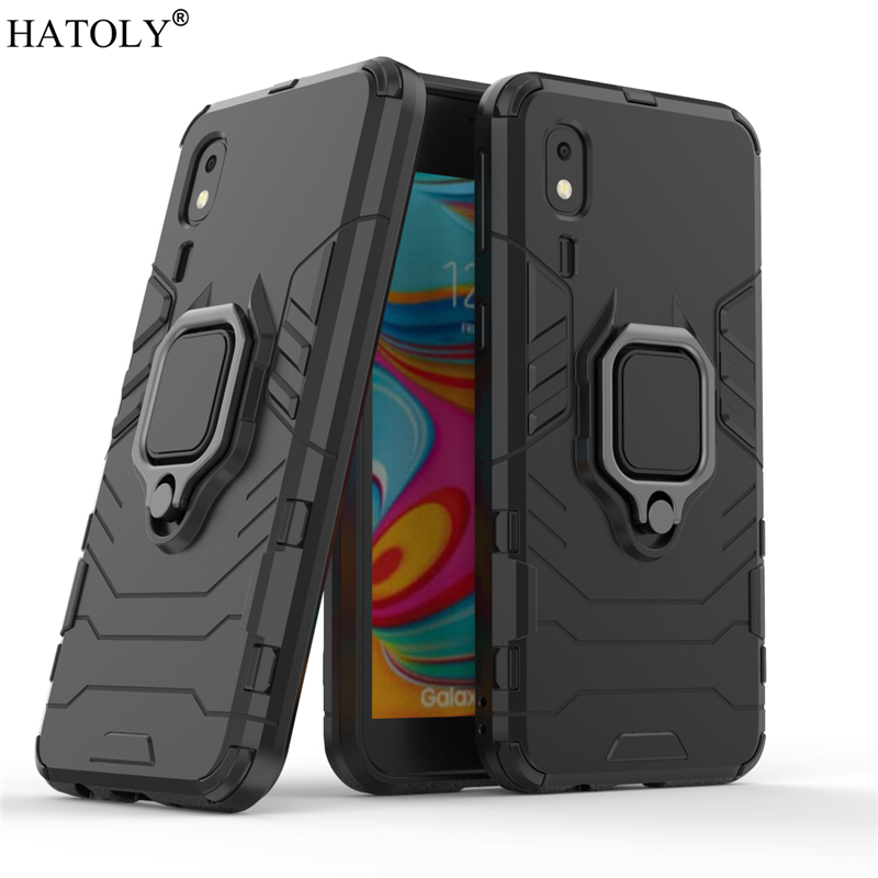 For Samsung Galaxy A2 Core Case Cover for Finger Ring PC Phone Armor
