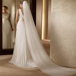 Дешевые Свадебные аксессуары Фата velo de novia 2 м длинный Тюль свадебная фата в наличии
