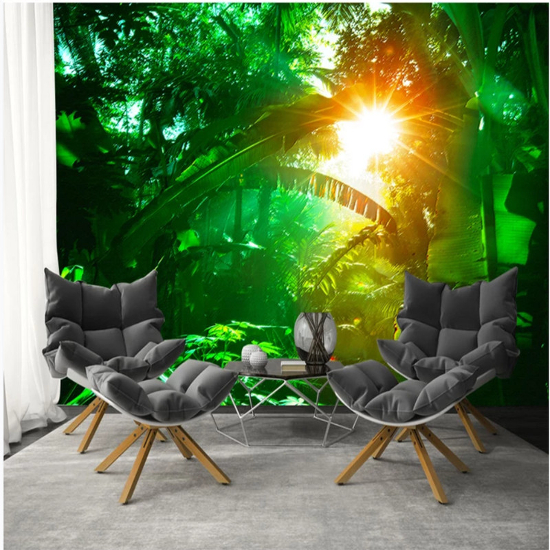 Green Forest Rainforest Plant Tv Background Wall Wallpaper Mural for Wall Photo Wallpaper Nature Home Improvement Home Improvement