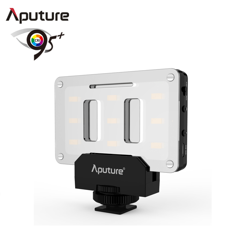 Aputure AL-M9 LED Video Light pockable TLCI/CRI 95+ on-camera fill light 9pcs SMD lights Pocket sized Tiny LED Lighting mcoplus air 1000b led video light pockable cri 95 display bi color