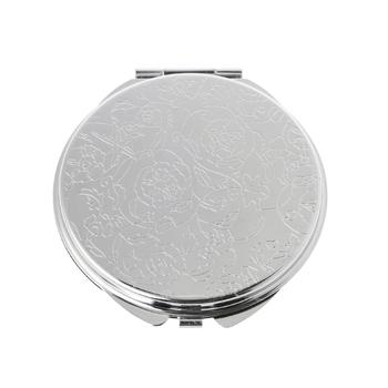 Przenośne kobiety lustro do makijażu ze stali nierdzewnej kieszeń boczna składane boczne lusterko kosmetyczne małe różne kształty podwójne tanie i dobre opinie Nie posiada CN (pochodzenie) NONE Stainless Steel 2 size Makeup Mirror 6cm 2 36 (Approx) 7cm 2 76 (Approx)