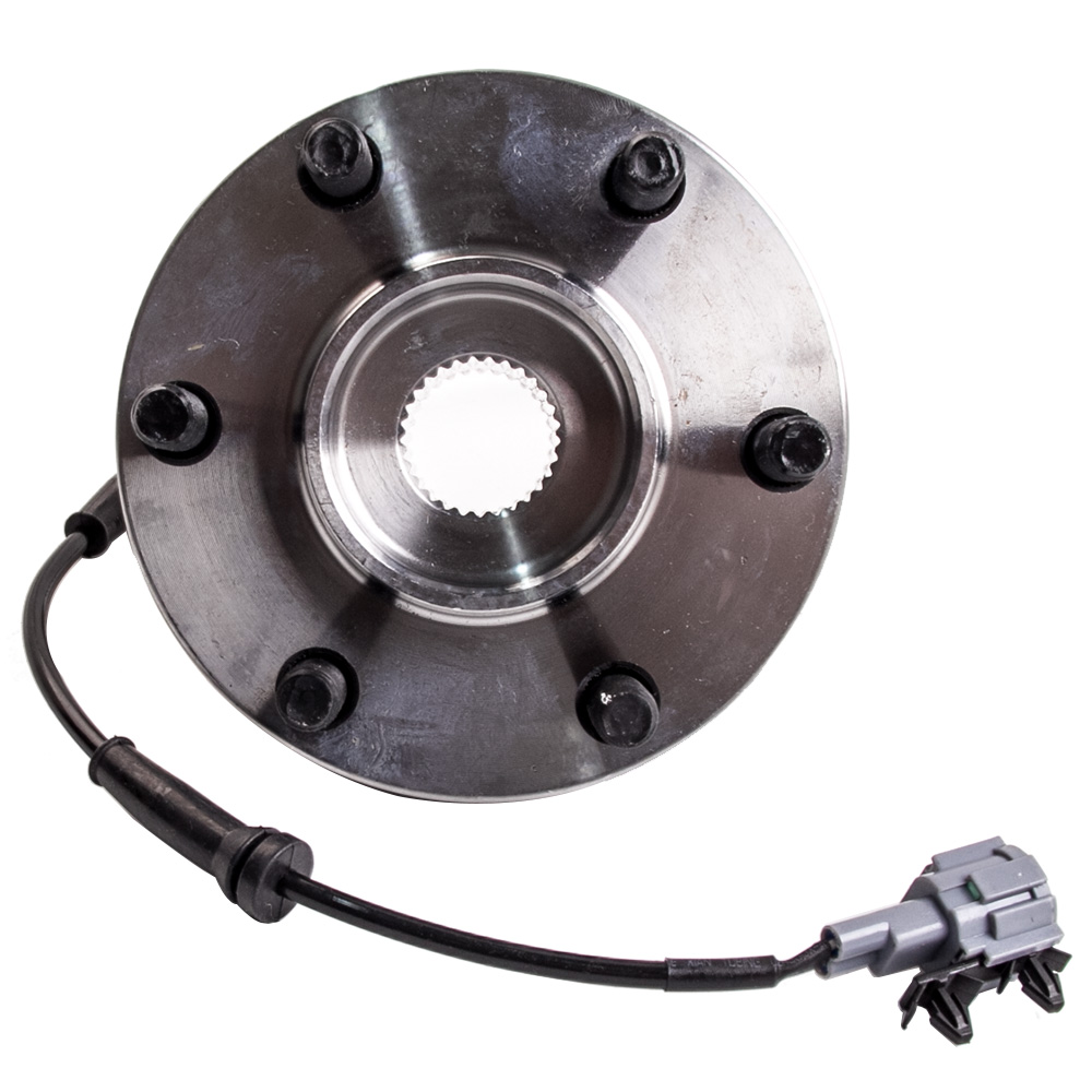 FRONT WHEEL BEARING HUB HUBS for NISSAN NAVARA 4WD D22 D40 ABS YD25 VQ40 PAR for nlssan navara d40