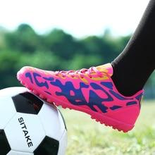 Летние футбольные бутсы для использования в помещении для мужчин газон шиповки мужские новые крутые Молодежные футбольные тренировочные кроссовки летняя домашняя обувь для детей