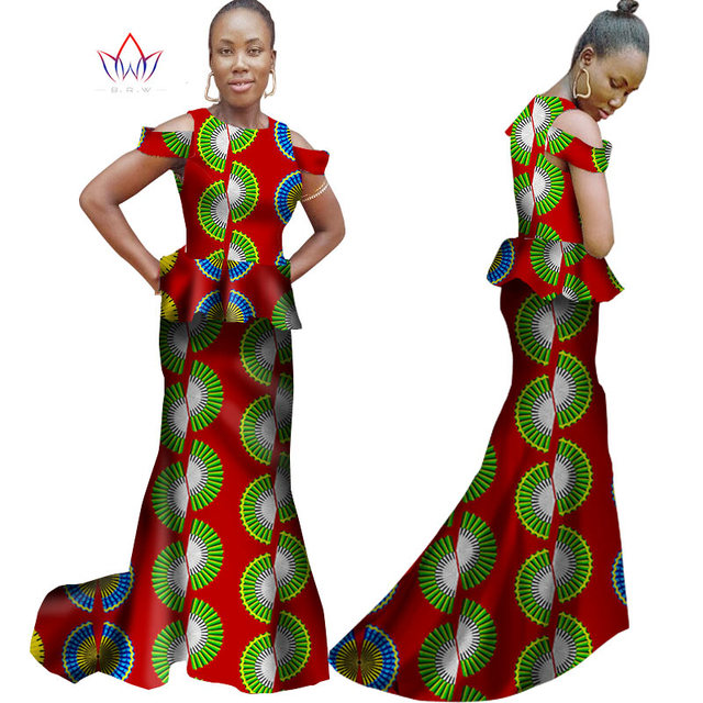 28d3c1c0ca7 Summer Women Dress Sleeveless Trumpet Mermaid Dress Maxi Dresses Ankara  Fashions Dashiki African Women Clothes 6XL BRW WY981