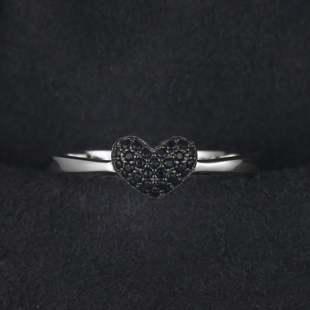 183c31e186db JewelryPalace Fashion 0.14ct Natural Black Spinel Love Heart Rings For Women  100% 925 Sterling Silver Wedding Gifts Fine Jewelry-in Rings from Jewelry  ...