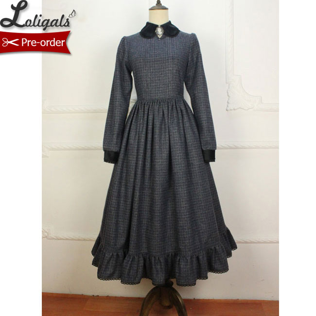 Women's Clothing Just Custom Tailored ~ Gothic Long Sheer Sleeve Lace Dress Ruffled Illusion Neck Maxi Dress By Miss Point Easy To Use