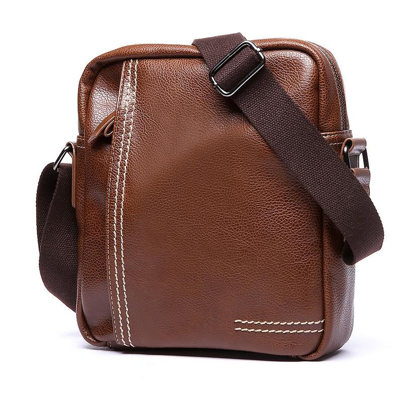Luxury Brand Men Bag Leather Crossbody Bag For Men Messenger Bag Casual Male Shoulder Bag Business Small Flap Briefcase Handbag