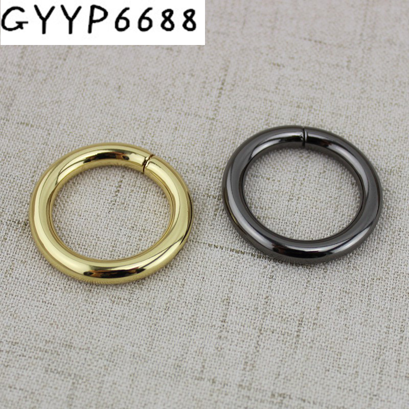 10pcs 50pcs Non Welded Rings 25mm O Rings Bags' Accessories Alloy Backpack Connector Harness Bag Parts Belt Buckles DIY