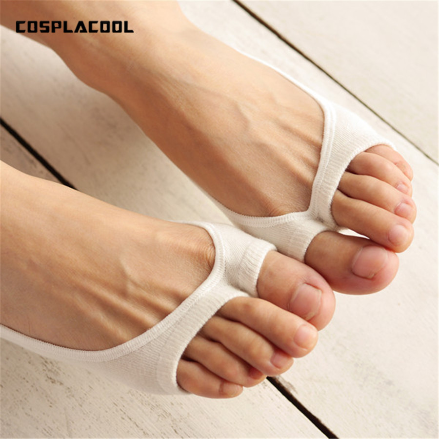 [COSPLACOOL] Spring summer   socks   Non-slip silicone cotton lighter boat   socks   clip toe   sock   Fish mouth contact