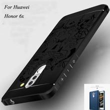 5.5 »Телефон случаях для huawei honor 6X силиконовый чехол антидетонационных высококачественные 3d матовая ТПУ антидетонационных телефон чехол для honor 6X случае