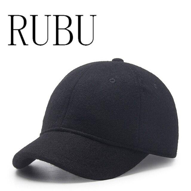 Autumn winter short eaves wool baseball cap men female simple wild trendy  cap cap warm hat 1bb0372c9ce