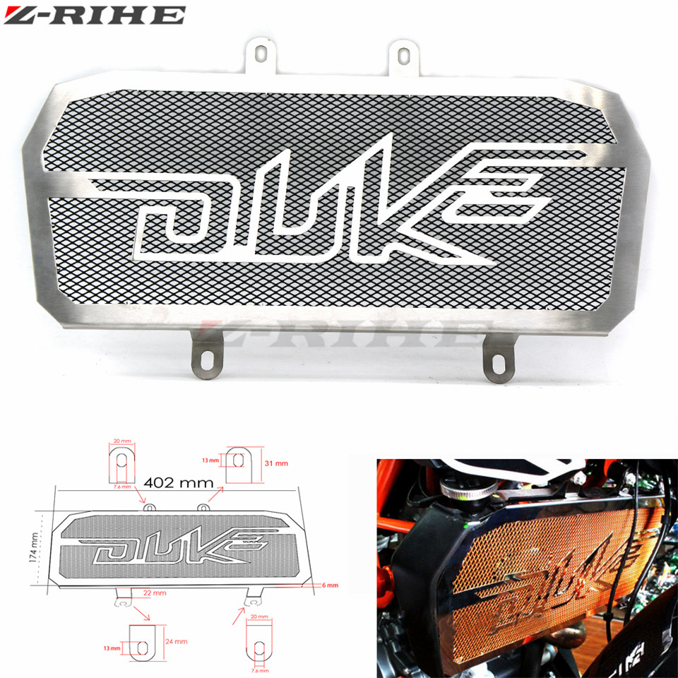 FOR duke 390/200 Motorcycle Accessories Radiator Grill Guard Cover Protector For Ktm Duke 200 390 motocross Performance parts for ktm logo 125 200 390 690 duke rc 200 390 motorcycle accessories cnc engine oil filter cover cap