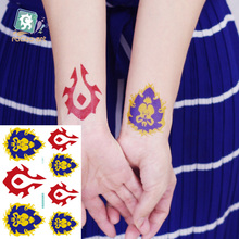 2Different Styles Rocooart Waterproof Temporary Tattoo Stickers World of Warcraft Tattoo Design Cool Tribal Tattoo For Men gold foil metal western tribal elements tattoo stickers