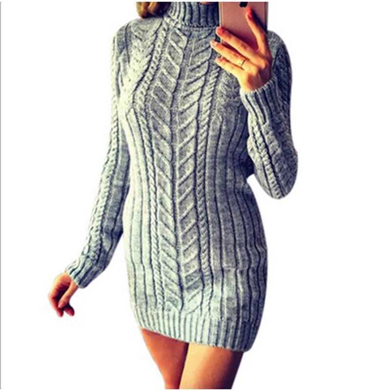 Sweater dress Women 2018 Autumn Winter female Long Sleeve