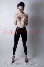 100% pure skinny rubber latex leggings lady's trousers latex rubber pants