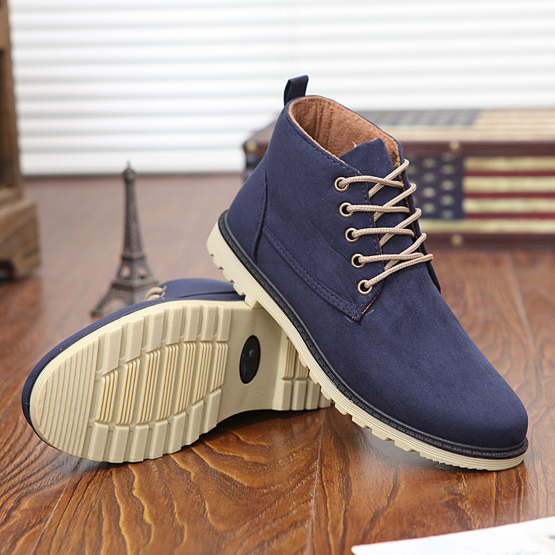eff465daa43e Fashion New 2016 PU Leather Men Boots Warm Cotton Brand Ankle Boots Shoes  Men For Spring Autumn Winter Shoe Botas Hombre