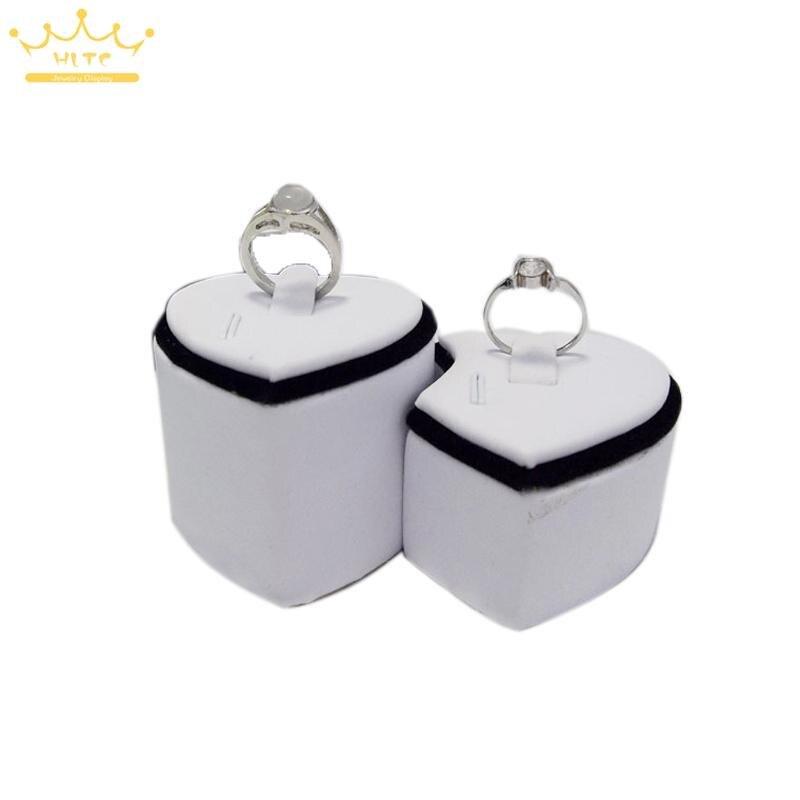 Серебряное кольцо Дисплей 5 пар/лот кольцо держатель Cat деревянные футляры для колец Белый Двойной любит образные организаторов кольцо