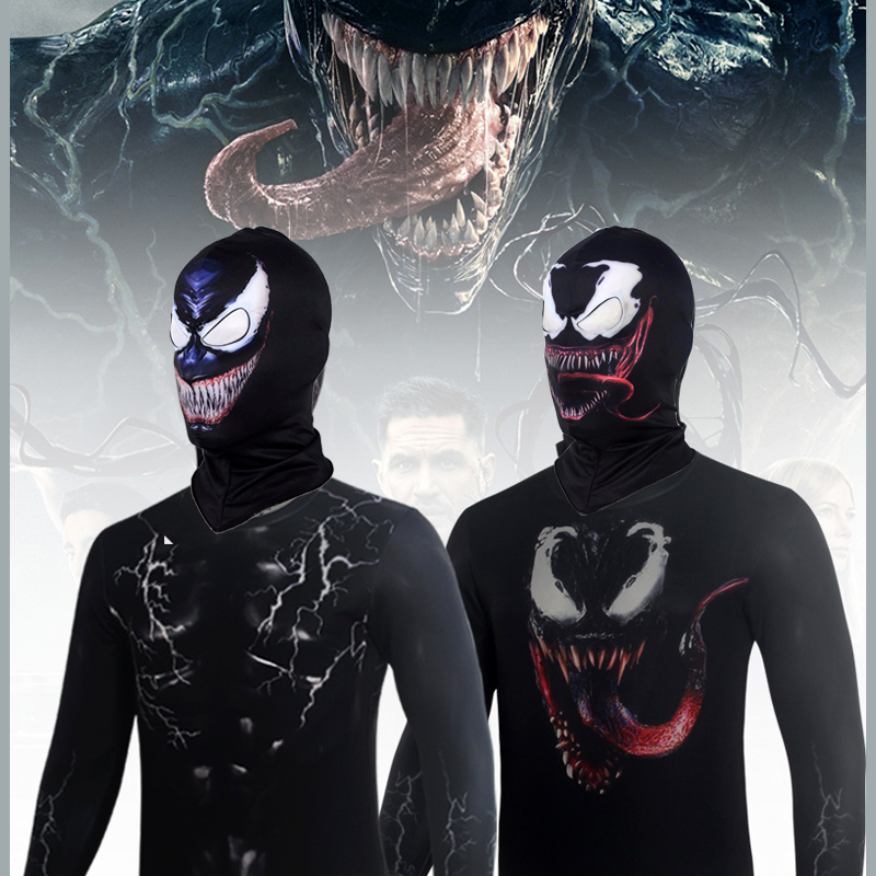 Men Women Venom Hoodie Cosplay Costumes With Venom Mask Tom Hardy Jacket Pullover sweatershirt Carnival Chiristmas Party Props