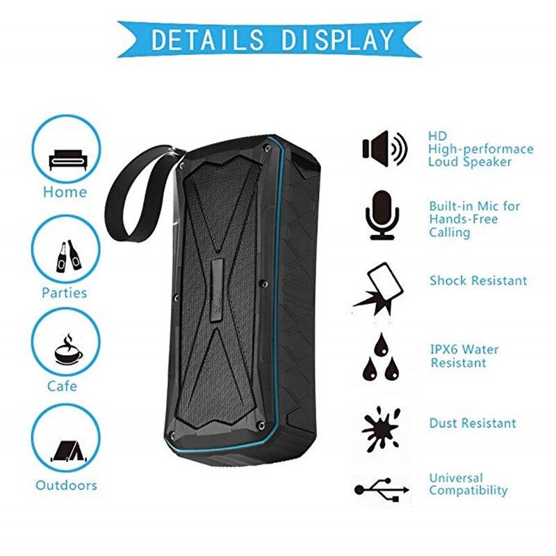 16w Powered Speaker Portable Column Wireless Bluetooth Speaker Waterproof Ip66 Outdoor Speaker Loudspeakers Mp3 Music Speaker Speakers