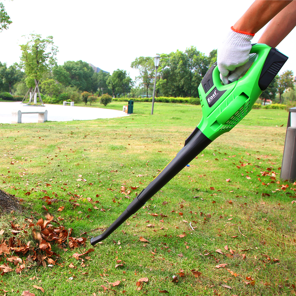east garden tool 18v liion cordless blower leaf blower 1300mah battery machinery tools garden power tool et1006 - Cordless Leaf Blower