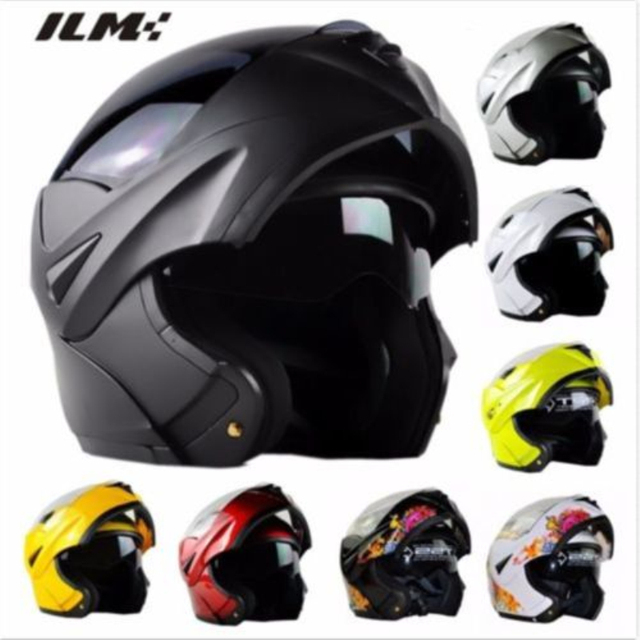 DOT Approved Motorcycle Helmet with Inner Sun Visor Flip Up Safety Double Lens Dual Visor Racing Motocross Quad Dirt Bike Helmet