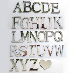 Новый акриловое зеркало 3D DIY стены стикеры, наклейки Английский буквы украшение для дома творческая личность специальные