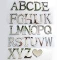 Nuevo espejo acrílico 3D DIY pegatinas de pared letras inglesas decoración del hogar personalidad creativa especial
