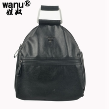 Wanu Новый 100% реальные из мягкой коровьей кожи Для женщин рюкзак женщина корейский стиль дамы ремень сумка для ноутбука рюкзак для девочек школа