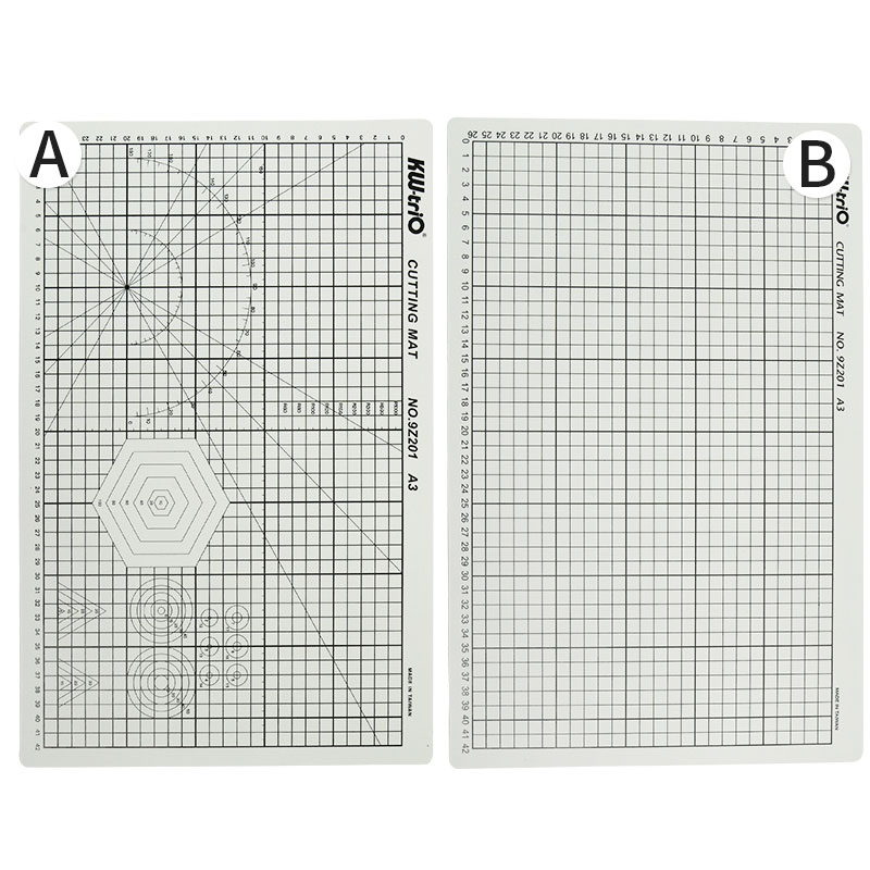 Купить с кэшбэком PVC A3 Cutting Mat Office Double-Sided Patchwork Cut Pad Self Healing Paper Cutter Cutting Board DIY Tools School Supplies