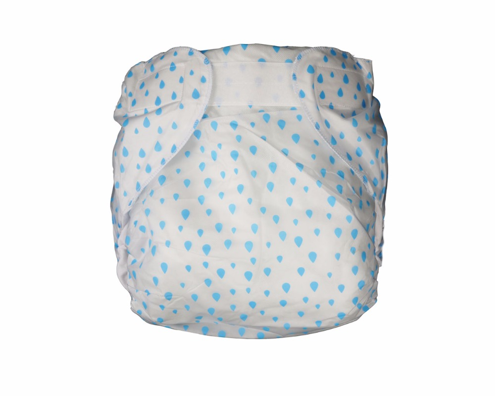 M-L, Blue Haian Reusable Adult Incontinence AIO Diapers
