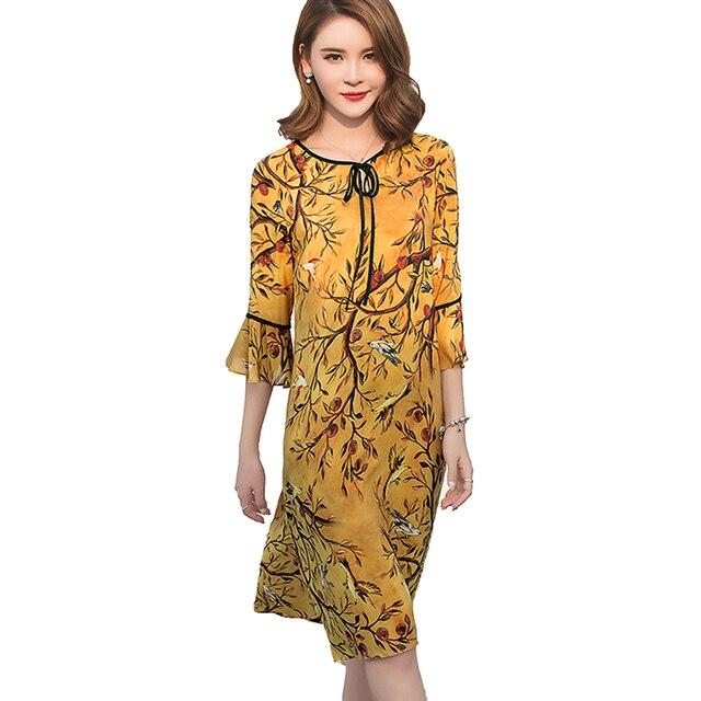 Dress Vintage style fashion women Rayon