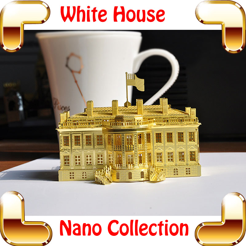 New Year Gift White House 3D Metal Model Building Alloy Puzzle American Scale models DIY Learning Toy Smart Brain Assemble Game
