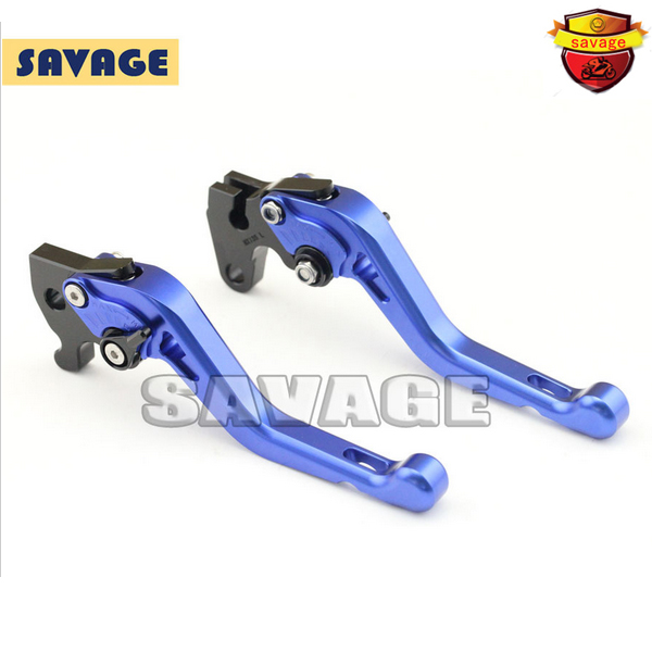 ФОТО For YAMAHA R15 indian version 2011-2014 Blue Motorcycle Accessories CNC Aluminum Short Brake Clutch Levers
