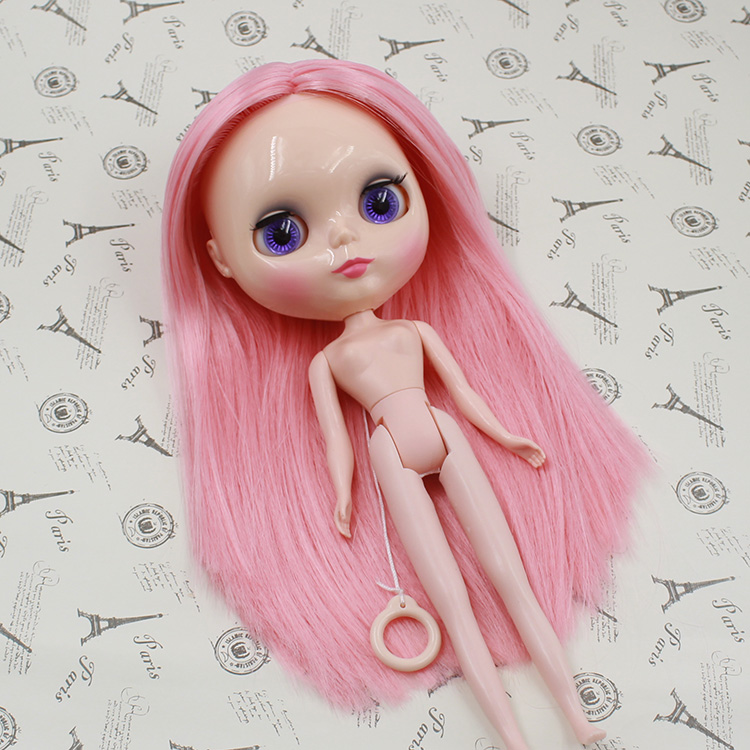 Blyth Doll For Series No J230NY0275 Pink hair without bangs Suitable For DIY Change Toy For