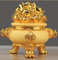 Cartoon Golden Cornucopia bowl Piggy Bank Coin Bank Money Box Saving Money saving container Home Decor Favor Gift C