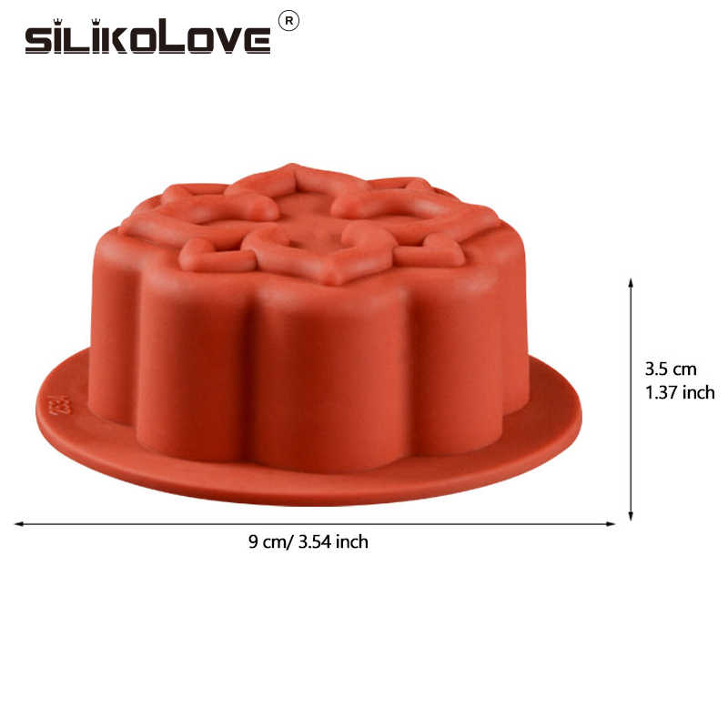 SILIKOLOVE Flower Shape Mini Cake Molds Silicone Molds for Baking Dishes Bread Pies Bakeware Trays Pans