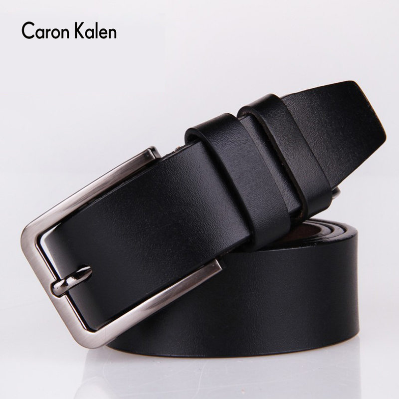 Men s belt Genuine Leather Dress Belts with Single Prong Buckle for men Cummerbunds ceinture homme