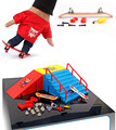 Fingerboard finger skateboard + runway originality intellectual mini toys Tech Skateboard Stunt Ramp Deck site Action Figures