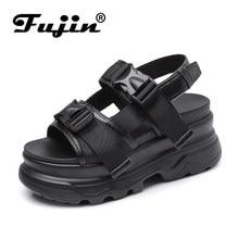 d42af6b6 Fujin Muffin Sandalias Mujer Dropshipping verano 2019 nuevo Retro Chic  Casual salvaje suela gruesa sandalias deportivas zapatos .