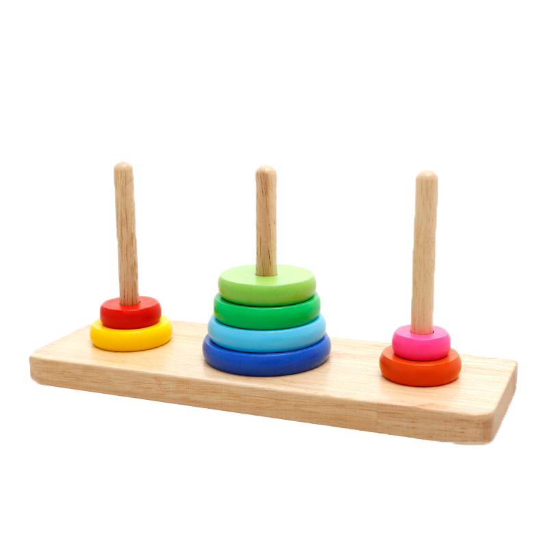 Chanycore Learning Educational Wooden Toys Hanoi Tower ...