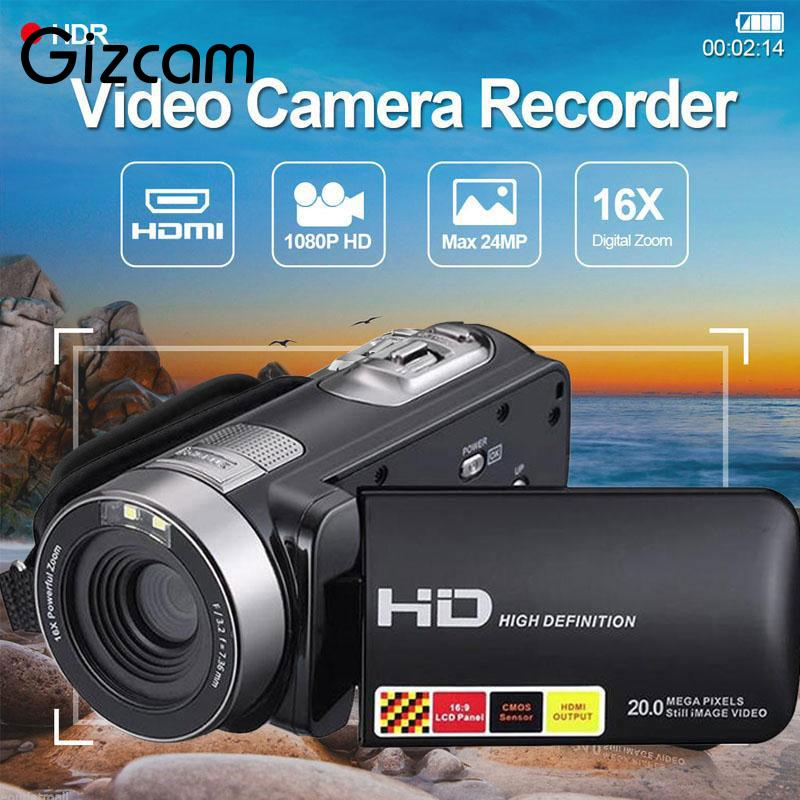 Mini 3.0 inch LCD 1080P HD IR Night Vision Infrared Digital Cameras Video Recorder DV Consumer Camcorders Portable US Plug network video cameras night vision infrared indoor hd hemisphere manufacturer wholesale digital safety products