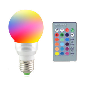 Image 2 - E27 E14 LED 16 Color Changing RGB Magic Light Bulb Lamp 85 265V 110V 120V 220V RGB Led Light Spotlight + IR Remote Control
